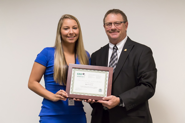 2017 CEO Scholarship recipient Hope Carazzo  of Center Barnstead  attends the University of New Hampshire.